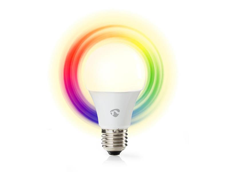 Chytrá WiFi žárovka LED E27 6W RGBW NEDIS WIFILC11WTE27 SMARTLIFE