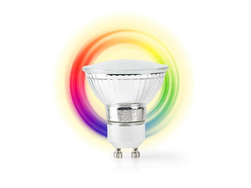 Chytrá WiFi žárovka LED GU10 5W RGBW NEDIS WIFILC10CRGU10 SMARTLIFE