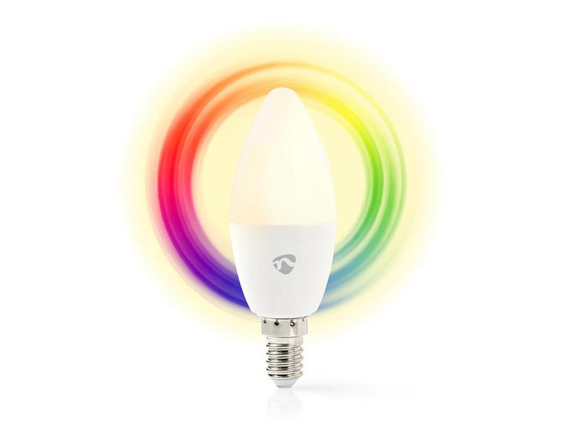 Chytrá WiFi žárovka LED E14 4.5W RGBW NEDIS WIFILC10WTE14 SMARTLIFE