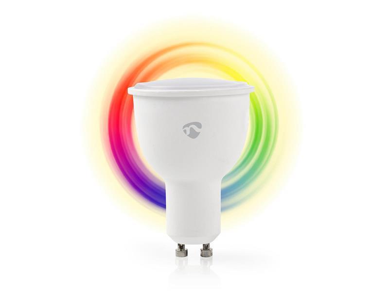 Chytrá WiFi žárovka LED GU10 4.5W RGBW NEDIS WIFILC10WTGU10 SMARTLIFE