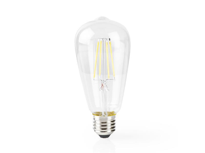 Chytrá WiFi žárovka LED E27 5W teplá bílá NEDIS WIFILF10WTST64 SMARTLIFE