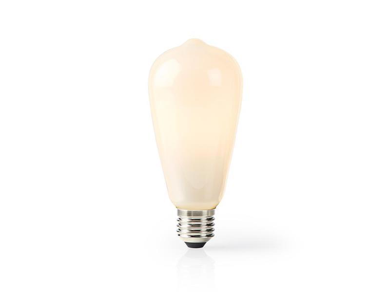 Chytrá WiFi žárovka LED E27 5W teplá bílá NEDIS WIFILF11WTST64 SMARTLIFE