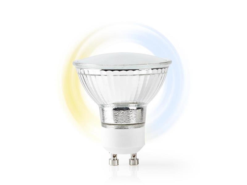 Chytrá WiFi žárovka LED GU10 5W bílá NEDIS WIFILW10CRGU10 SMARTLIFE
