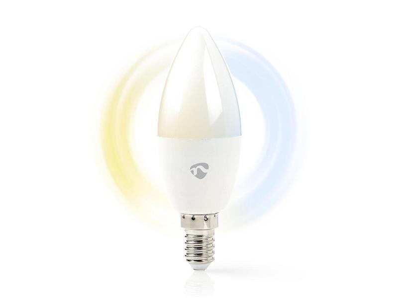 Chytrá WiFi žárovka LED E14 4.5W bílá NEDIS WIFILW10WTE14 SMARTLIFE