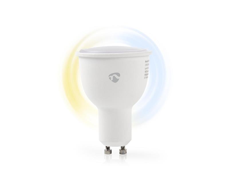 Chytrá WiFi žárovka LED GU10 4.5W bílá NEDIS WIFILW10WTGU10 SMARTLIFE