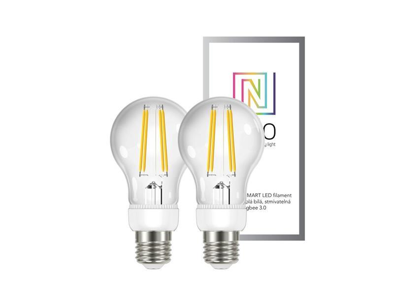 Chytrá WiFi žárovka LED E27  6.3W bílá teplá IMMAX NEO 07088B 2ks