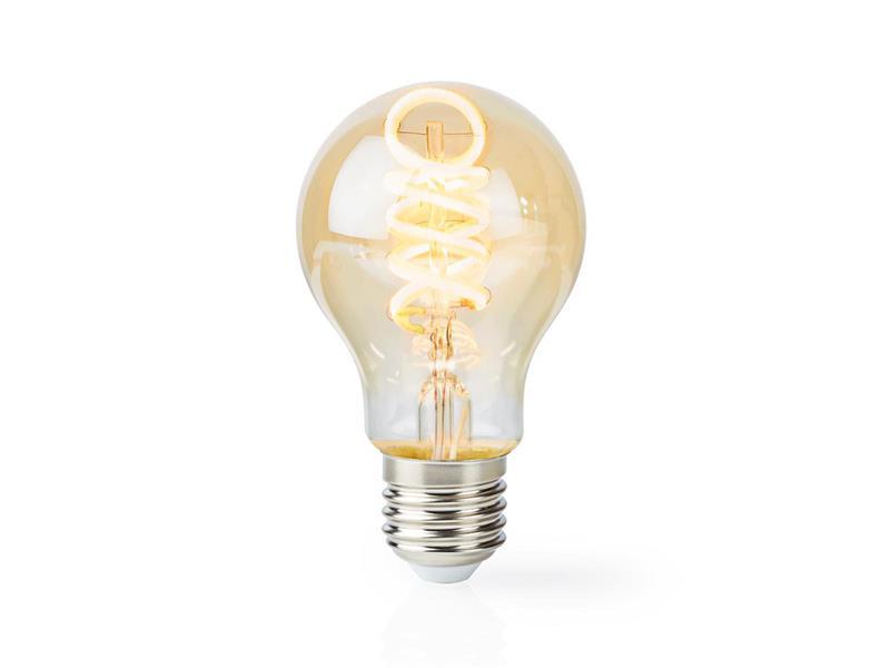 Chytrá WiFi žárovka LED E27  5.5W bílá teplá NEDIS WIFILT10GDA60 SMARTLIFE