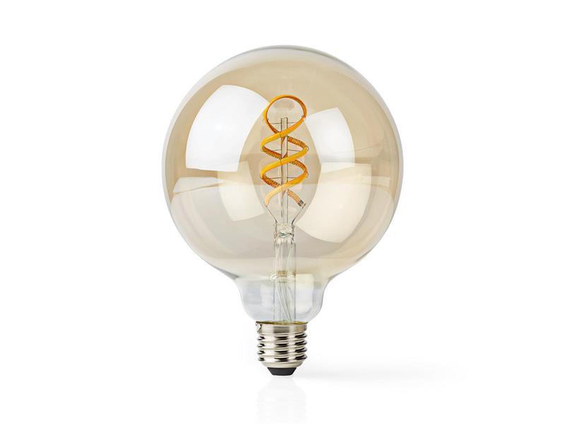 Chytrá WiFi žárovka LED E27 5.5W teplá bílá NEDIS WIFILT10GDG125 SMARTLIFE
