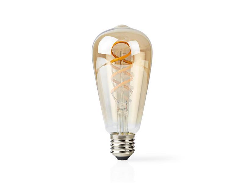 Chytrá WiFi žárovka LED E27  5.5W bílá teplá NEDIS WIFILT10GDST64 SMARTLIFE