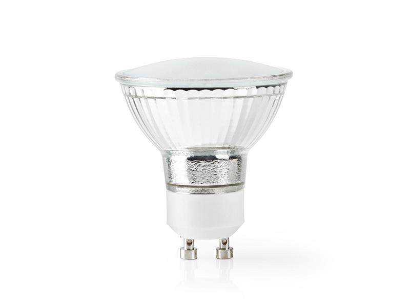 Chytrá WiFi žárovka LED GU10  4.5W bílá teplá NEDIS WIFILW12CRGU10 SMARTLIFE