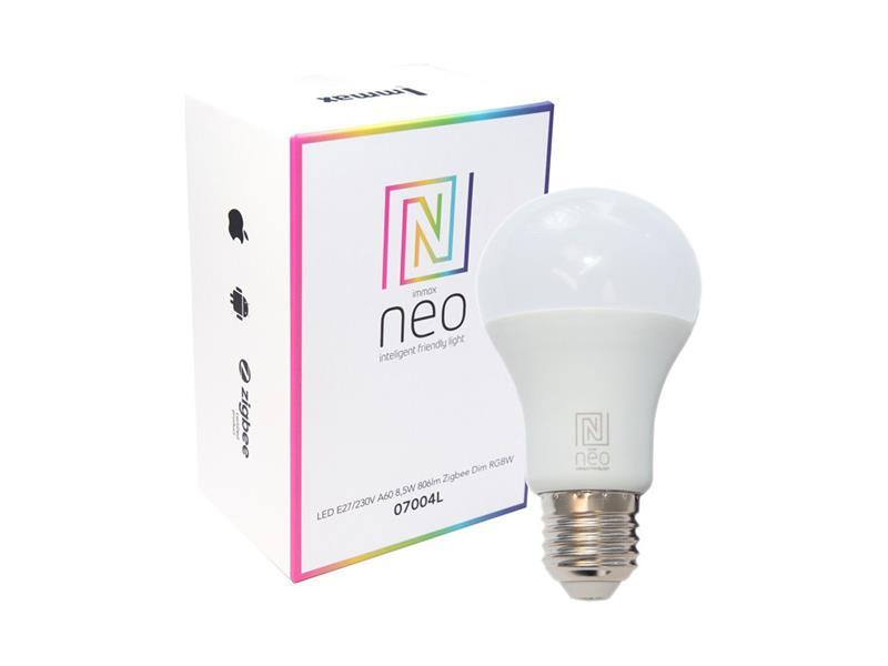 Chytrá WiFi žárovka LED E27  9W RGBW IMMAX NEO 07115L