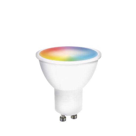 Chytrá WiFi žárovka LED GU10  5W RGB SOLIGHT WZ326