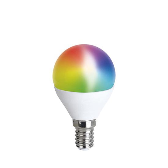 Chytrá WiFi žárovka LED miniglobe E14  5W RGB SOLIGHT WZ432