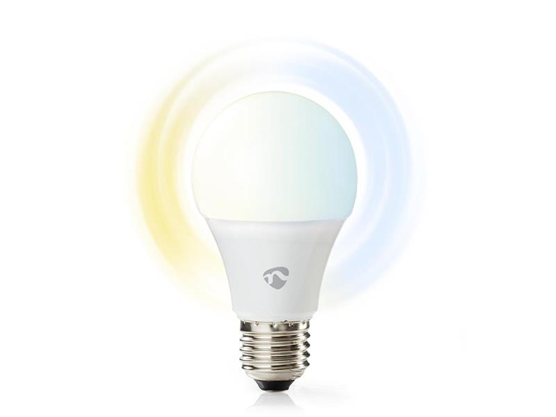 Smart žárovka LED E27 9W bílá NEDIS WIFILW13WTE27 WiFi SmartLife