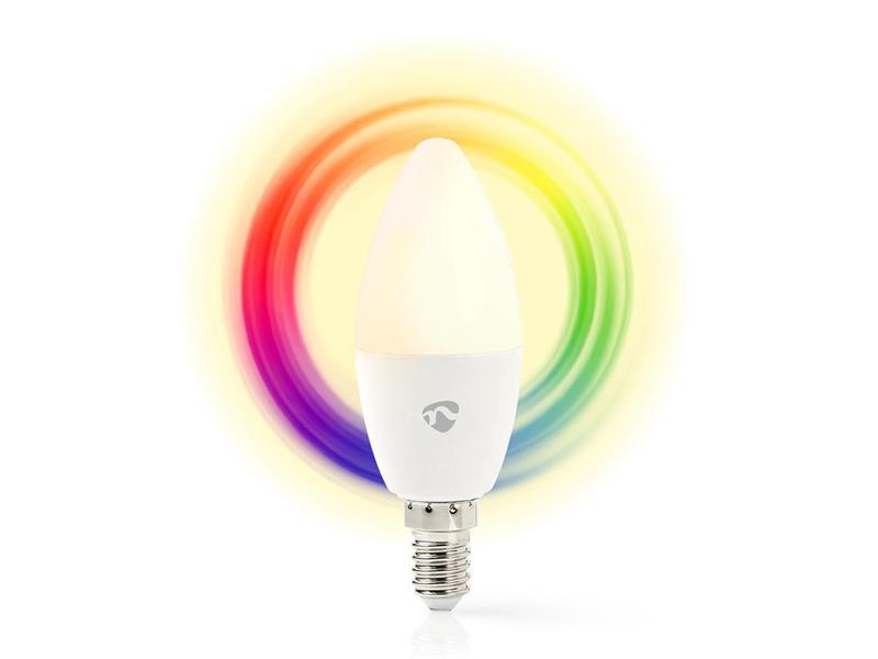 Smart žárovka LED E14 4.5W RGB NEDIS WIFILC11WTE14