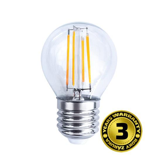 Žárovka LED E27  4W miniGLOBE bílá teplá SOLIGHT WZ426