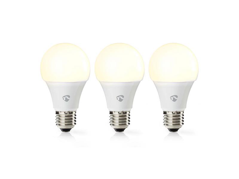 Smart žárovka LED E27 9W teplá bílá NEDIS WIFILW32WTE27 WiFi SmartLife 3ks