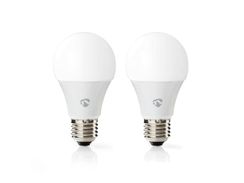 Smart žárovka LED E27 6W RGB NEDIS WIFILC21WTE27 WiFi SmartLife 2ks