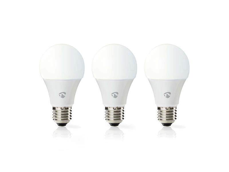 Smart žárovka LED E27 9W bílá NEDIS WIFILW33WTE27 WiFi SmartLife 3ks