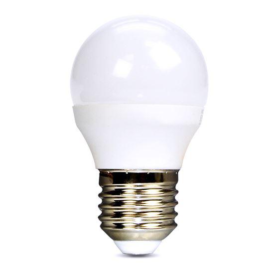 Žárovka LED E27 6W miniGLOBE bílá studená SOLIGHT WZ419-1