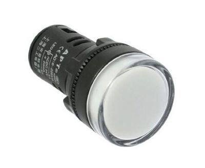 Kontrolka kulatá 230V LED bílá 29mm HADEX