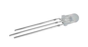 LED  5mm  dvoubarevná R/G  3pin  bílá