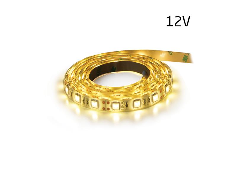 LED pásek 12V 3528 60LED/m IP44 4.8W/m bílá teplá (1ks=5cm) zalitý
