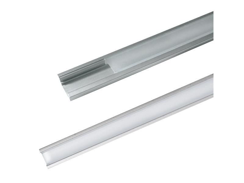 AL profil pro LED, AR1 + plexi pro zapuštění 24,5x8mm l=2m (zacvakávací/zasunovací)