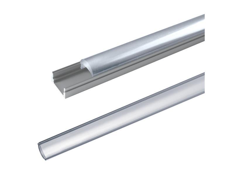 AL profil AL60 pro LED pásky, k přisazení, s vypouklým plexi, 2m
