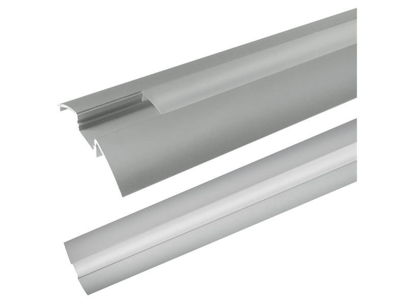 AL profil AR6 pro LED pásky, k přisazení, s plexi, 2m