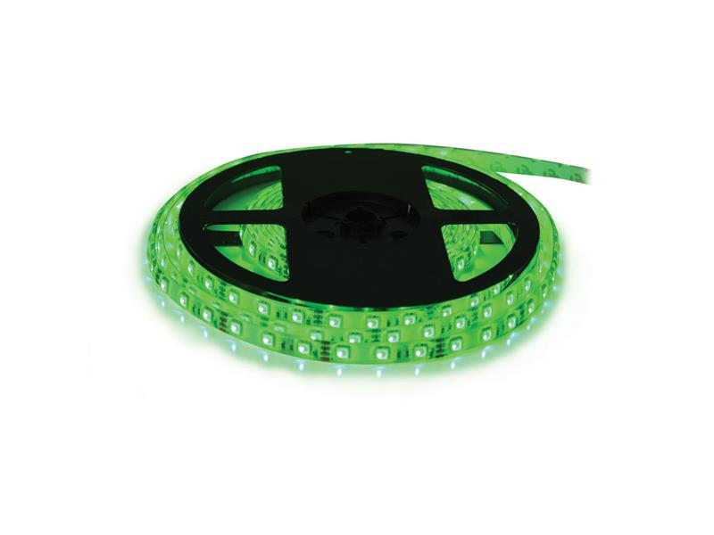 LED pásek 12V 5050  60LED/m IP20 max. 14.4W/m zelená (cívka 5m)