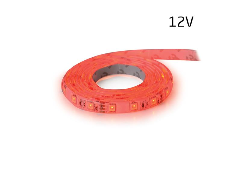 LED pásek 12V 3528  60LED/m IP65 max. 4.8W/m červená (1ks=5cm) zalitý
