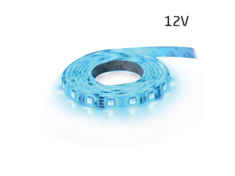 LED pásek 12V 3528  60LED/m IP65 max. 4.8W/m modrá (1ks=5cm) zalitý