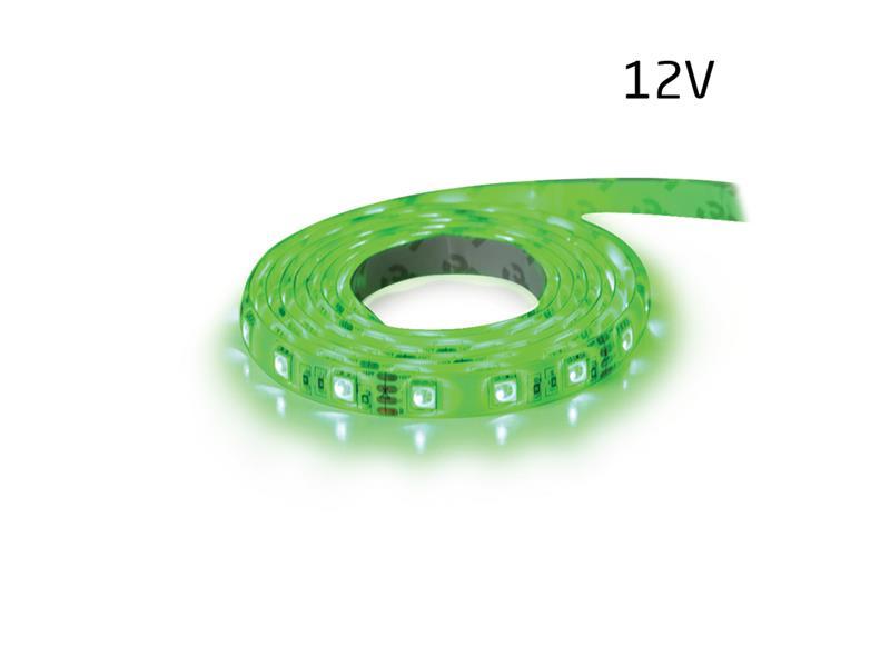 LED pásek 12V 5050  60LED/m IP20 max. 14.4W/m zelená 5 cm