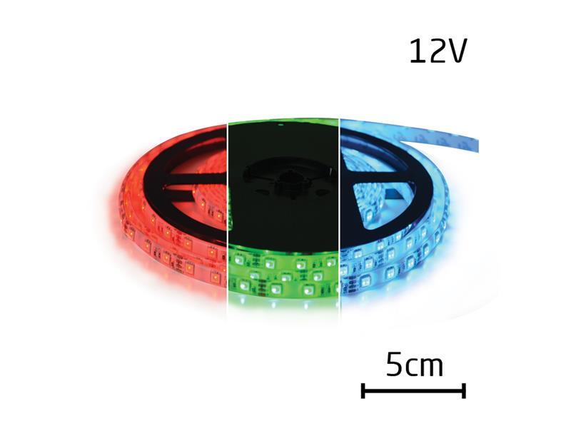 LED pásek 12V 5050  60LED/m IP65 max. 12W/m RGB 5 cm zalitý