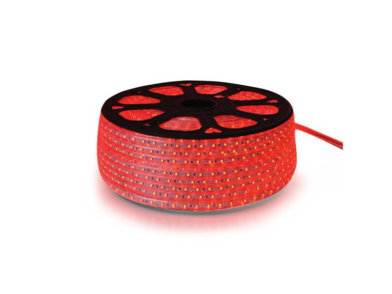 LED strip 230V, 3528  60LED/m IP67 max. 4.8W/m red, price for 1 m