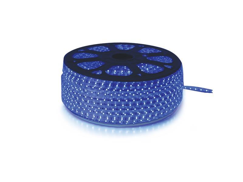 LED pásek 230V, 3528  60LED/m IP67 max. 4.8W/m modrá, cena za 1m, zalitý