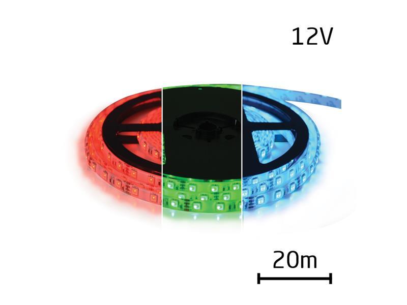 TIPA LED pásek 12V 5050 60LED/m IP20 max. 12W/m RGB 20 m