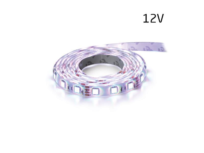 LED pásek 12V 3528  60LED/m IP65 max. 4.8W/m bílá studená (1ks=5cm) zalitý