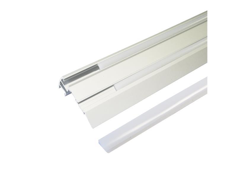 AL profil pro LED, Stair + plexi 67,5x27,8mm I=1m (zasunovací)