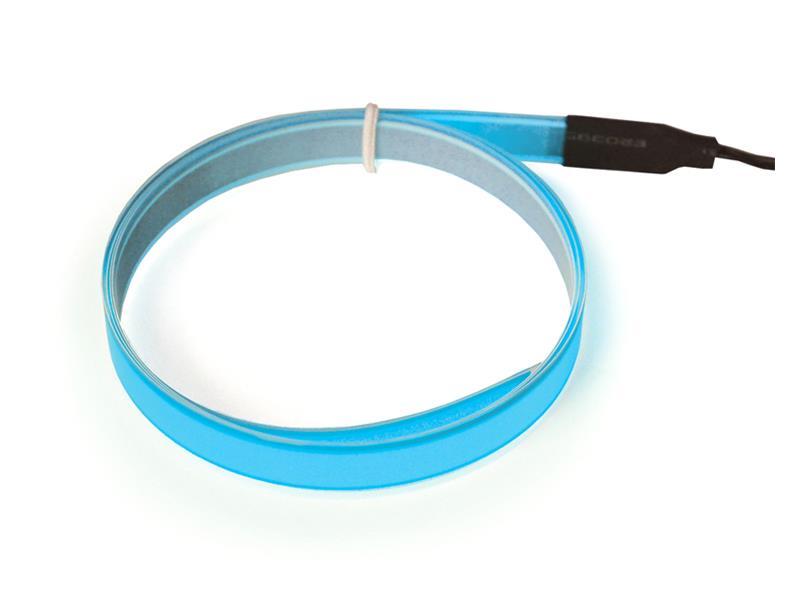 Pásek EL svítící 1m modrý