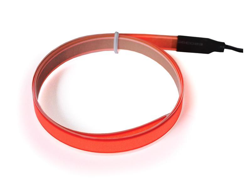 Svítící pásek, 2m, červený