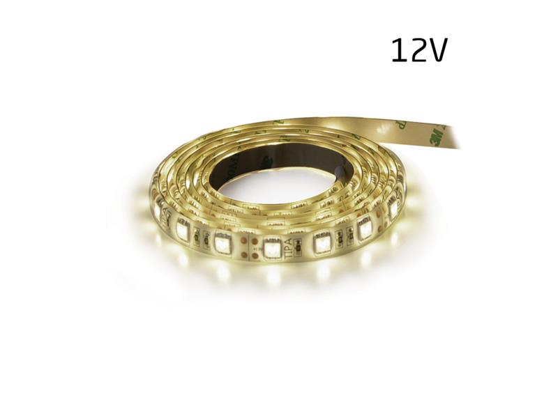 LED pásek 12V 3528 60LED/m IP65 max. 4.8W/m bílá přírodní (1ks=5cm) zalitý