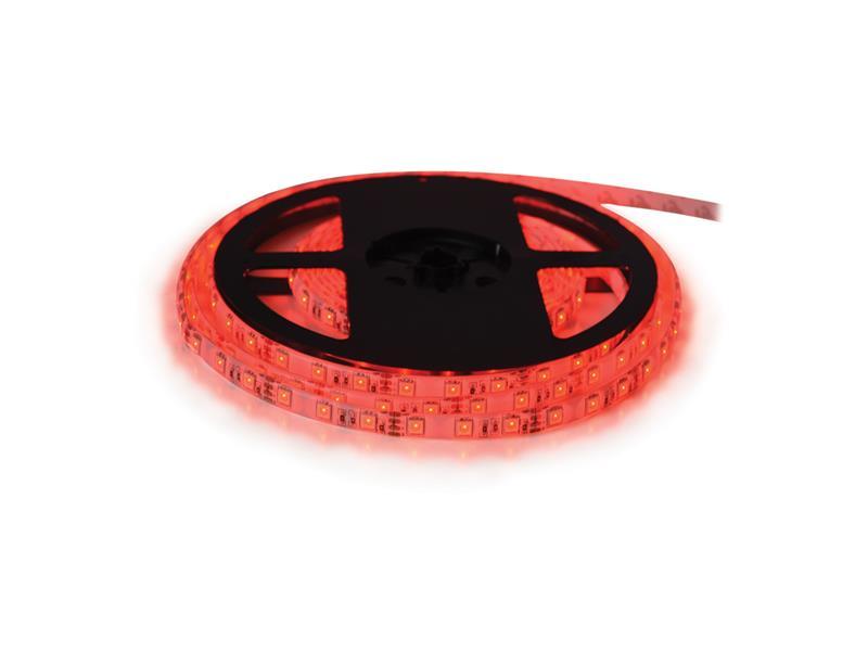 LED pásek 24V 3528  60LED/m IP20 max. 4.8W/m červená (cívka 5m)
