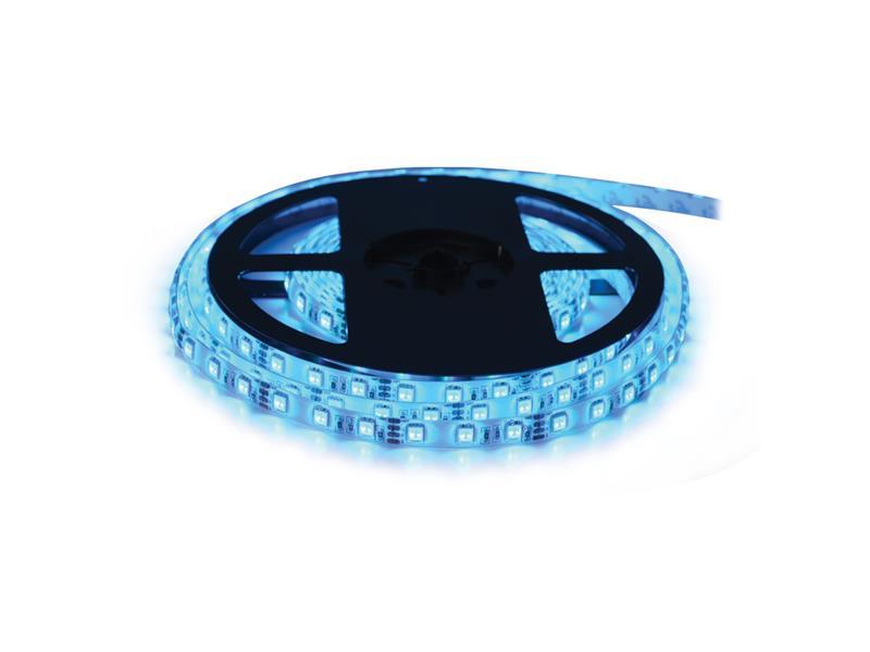 LED pásek 24V 3528  60LED/m IP65 max. 4.8W/m modrá (cívka 5m) zalitý