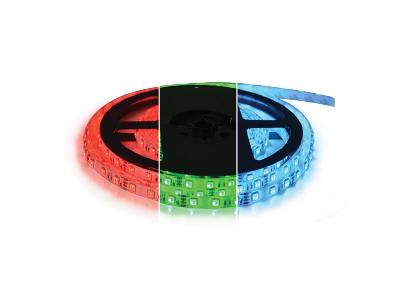 LED pásek 24V 5050 60LED/m IP20 max. 12W/m RGB (1ks=cívka 5m)