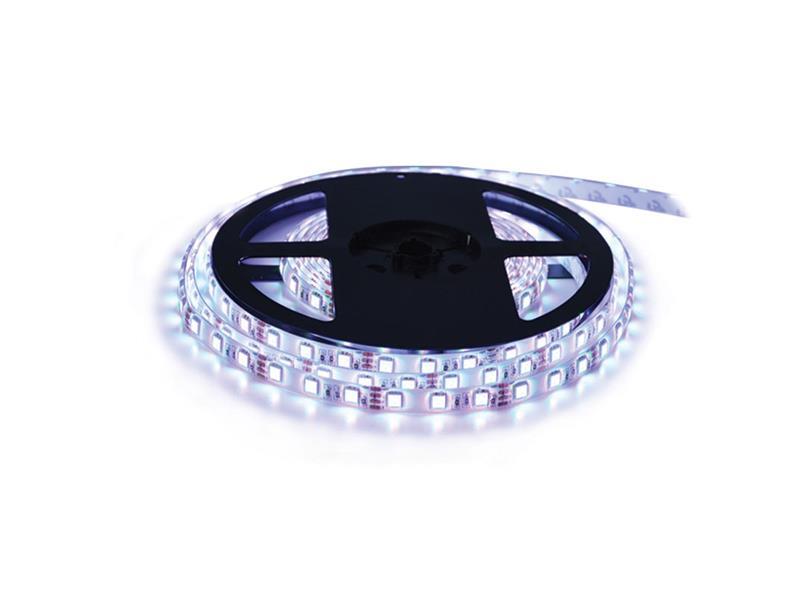 LED pásek 12V 5050  60LED/m IP68 max. 14.4W/m bílá studená (cívka 5m) voděodolný