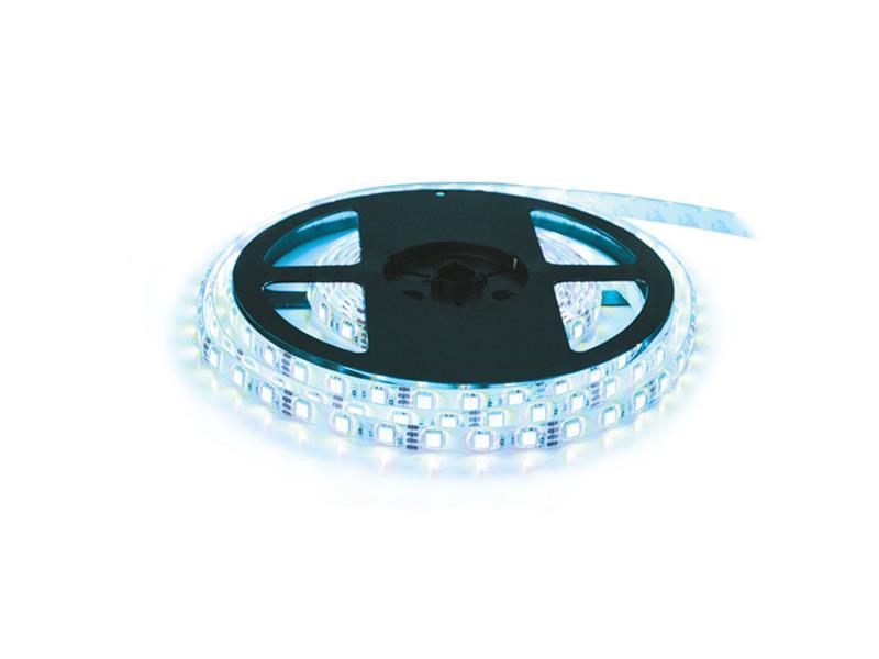LED pásek 12V 5050  60LED/m IP20 max. 14.4W/m bílá studená - ice blue (cívka 5m)