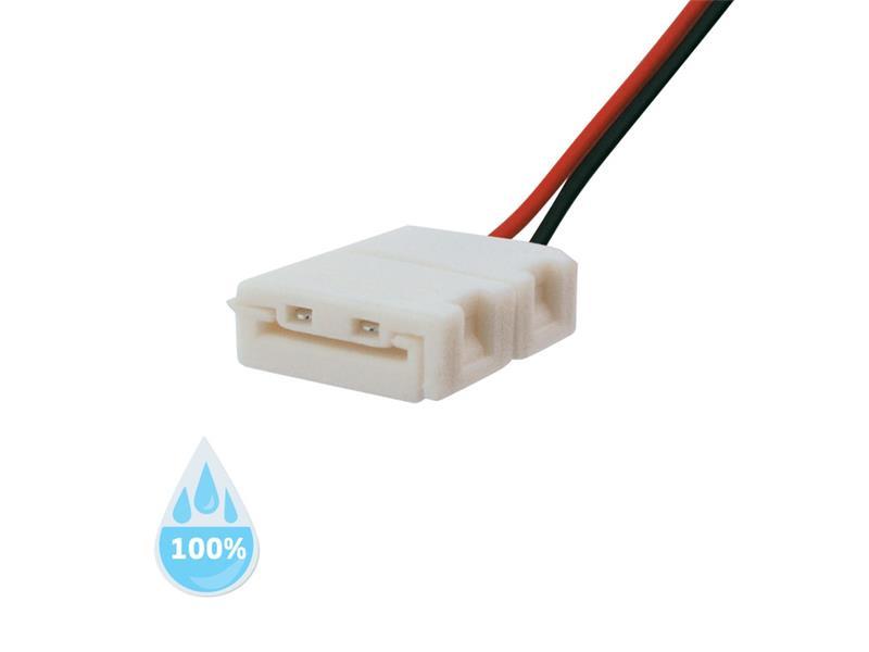 Konektor nepájivý pro LED pásky 3528 30,60LED/m o šířce 8mm s vodičem, voděodolný IP68
