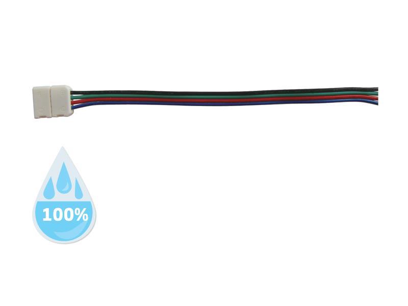 Konektor nepájivý pro RGB LED pásky 5050 30,60LED/m o šířce 10mm s vodičem, voděodolný IP68